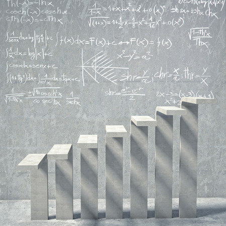 concrete background: math background of concrete stair Stock Photo