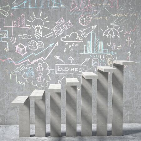 concrete background: business  background of concrete stair