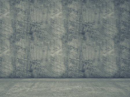 concrete floor: wall and concrete floor 3d background Stock Photo