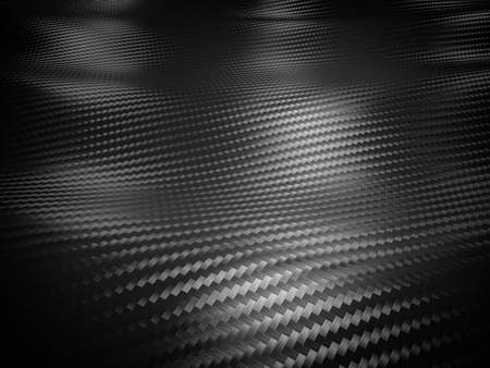 textile industry: carbon fiber background 3d image