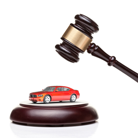 auction win: 3d car model and wood gavel