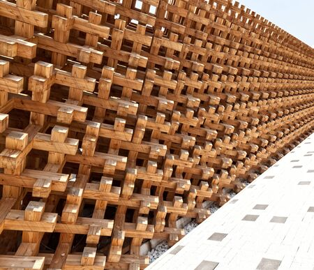 wood structure: detail of modern natural wood structure Editorial