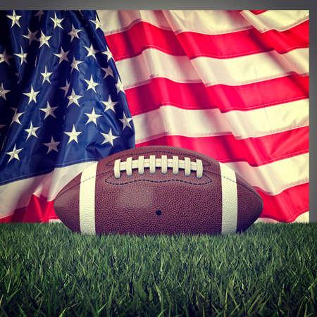 football ball: american football ball and old glory