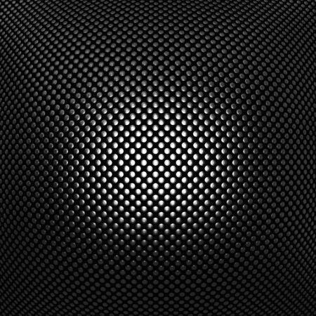3D-beeld van geometrische metalen plaat