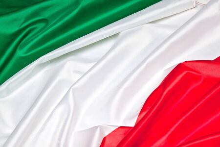 real: real fabric italian flag background