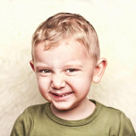 child portrait: little child portrait and fur background