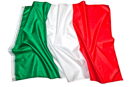 italian: real fabric italian flag background