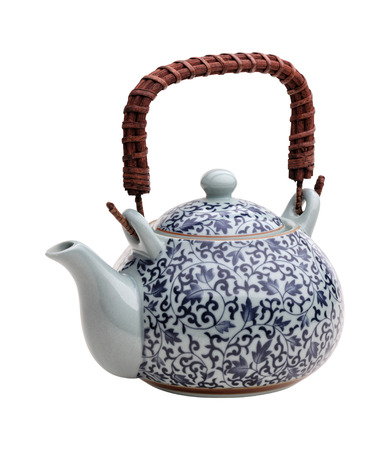 chinese teapot: traditional chinese teapot isolated on white background Stock Photo