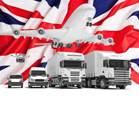 uk: 3d imageconcept of worldwide delivery