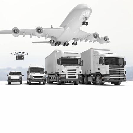 render: 3d imageconcept of worldwide delivery