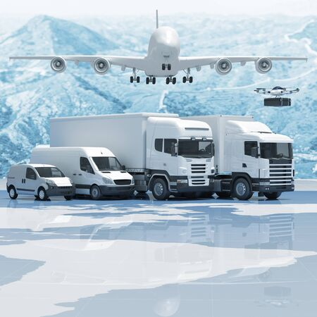 china business: 3d imageconcept of worldwide delivery