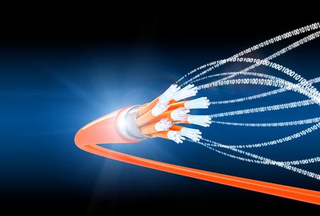 fiber optics: fiber optics background 3d image