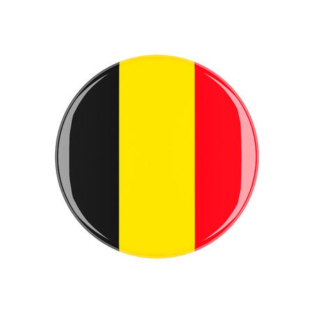 3d button: belgium 3d button isolated on white background