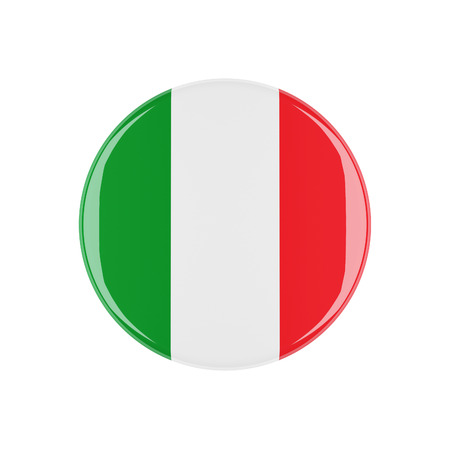 3d button: italy 3d button isolated on white background