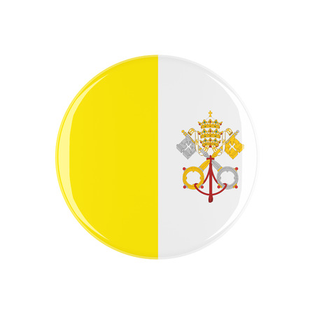 3d button: vatican 3d button isolated on white background