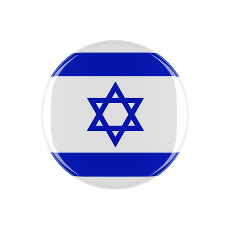 3d button: israel 3d button isolated on white background