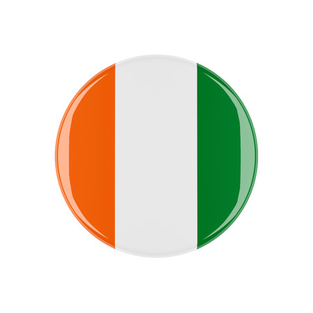 3d button: ireland 3d button isolated on white background Stock Photo