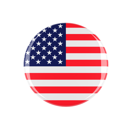 3d button: usa 3d button isolated on white background Stock Photo