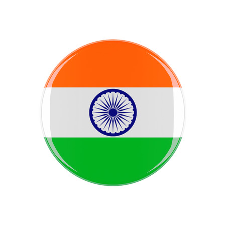 india 3d: india 3d button isolated on white background Stock Photo