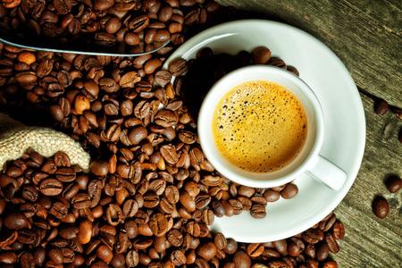 real espresso and coffee grain