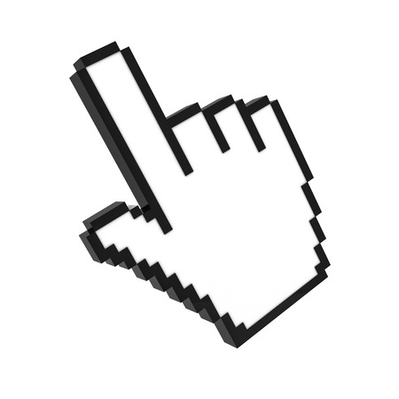 buy icon: hand cursor pointer 3d rendering