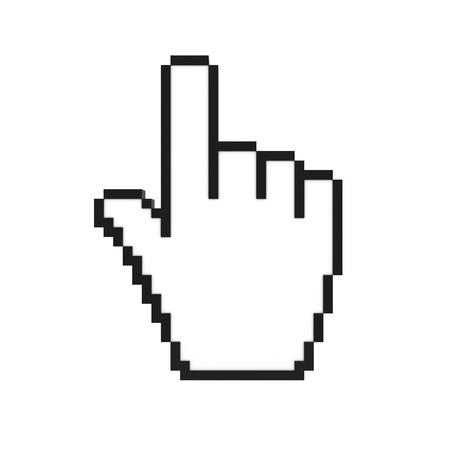cursor: hand cursor pointer 3d rendering