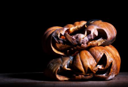 rotten: rotten halloween pumpkinin the dark