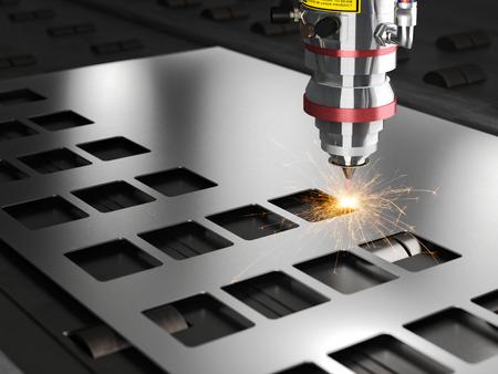 레이저 절단 기계 3d 렌더링 스톡 콘텐츠 - 66949056