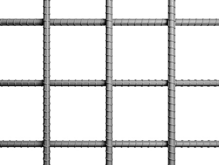 steel texture: classic metal rebar 3d rendering