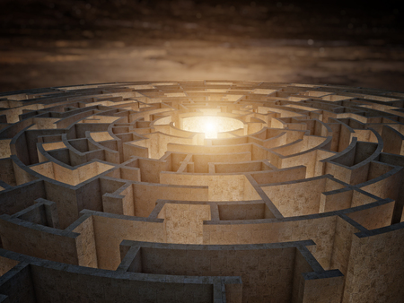 business challenge: 3d rendering of circular maze
