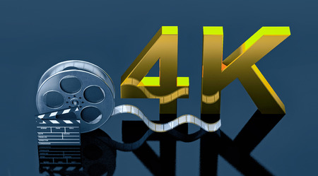 cinema 4k concept 3d rendering image Stock Photo