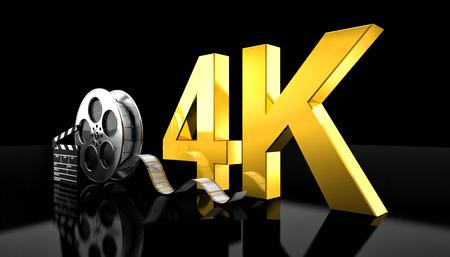cinema 4k concept 3d rendering image Banco de Imagens