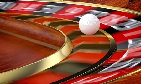 carbonfiber: classic casino roulette and green table 3d rendering