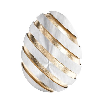 iron and steel: golden easter egg 3d rendering image Stock Photo