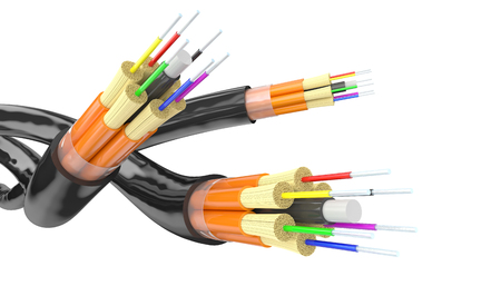 fiber optics background 3d rendering  image