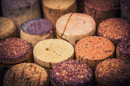 stopper: wine stopper cork collection background Stock Photo