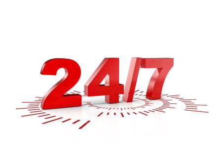 24 時間サービスの 3 d レンダリング画像