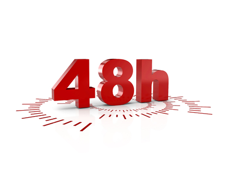 48 ours service 3d rendering image Stock Photo
