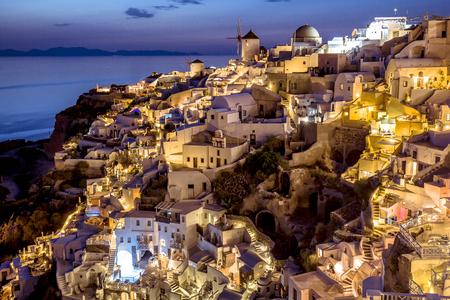 Vier of oia village , santorini greece