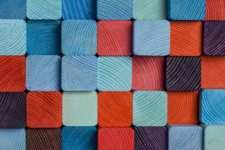 cloaseup of colorful wooden mosaic