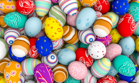 decorated easter egg 3d rendering image Stock Photo