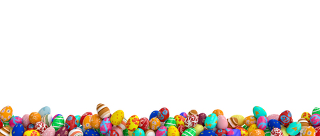 isolated artistic easter eggs 3d rendering image