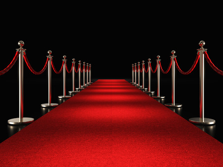 classic red carpet 3d rendering image Stock Photo