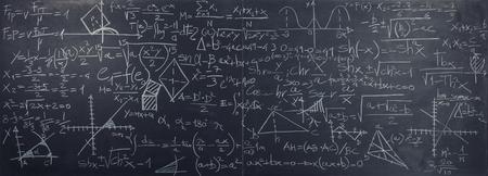 classic slate blackboard with math formula Stock Photo