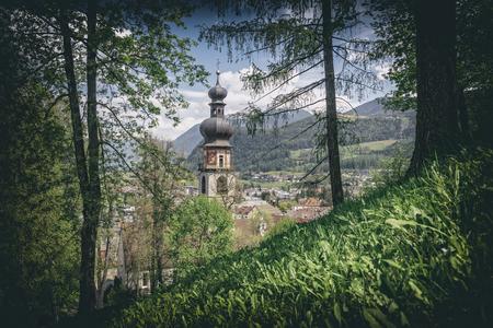 church of St.Katherine Rainkirche in Brunico italian alps