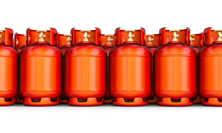 3d rendering image of classic gas cylinder Foto de archivo - 107437444