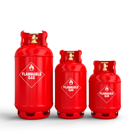 3d rendering image of classic gas cylinder 스톡 콘텐츠