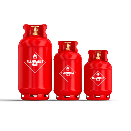 3d rendering image of classic gas cylinder Stok Fotoğraf - 107437467