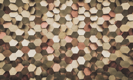 Geometric old gold background 3d rendering image