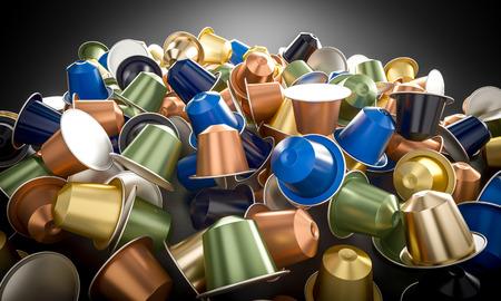 3d rendering image of coffee capsule background